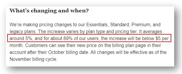 Mailchimp thay đổi bảng giá, tăng giá từ T10-2020-01